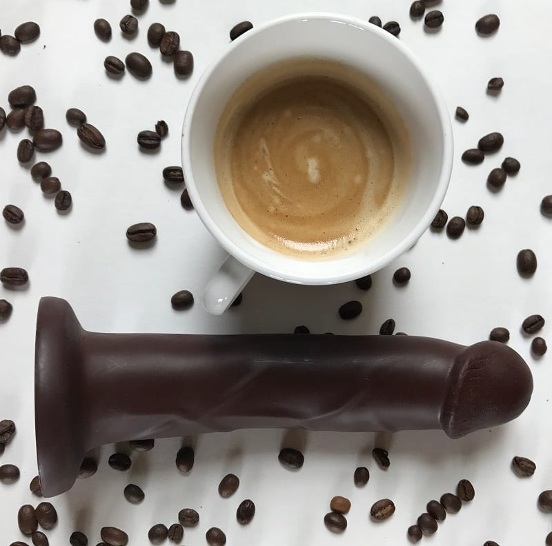 Cadet Vibrating with cup of coffee and coffee beans