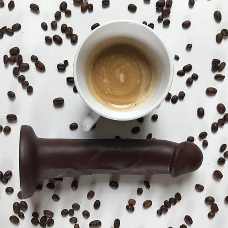 Cadet Vibrating dildo in coffee color