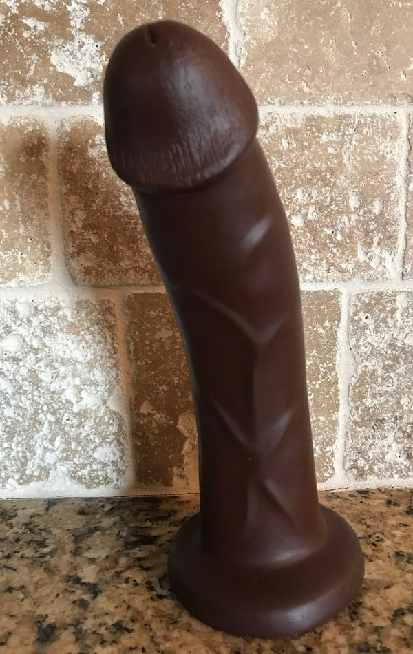 Pleasure Works Cadet dildo in my kitchen