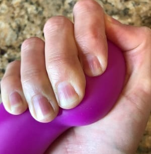 Real Nude Ergo head squished in my hand