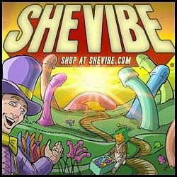 SheVibe Willy Wonka dildo logo