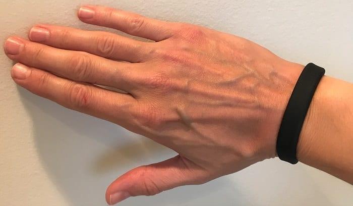 Tantus Super Soft C-Ring on wrist