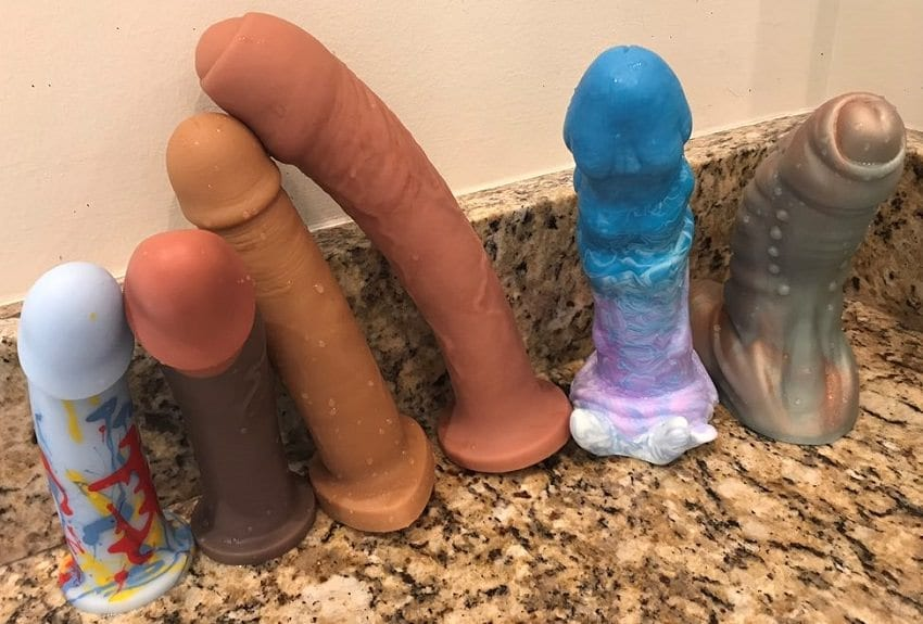Silicone dildos Bad Dragon Damn Average BS Is Nice Split Peaches Shapely Toys