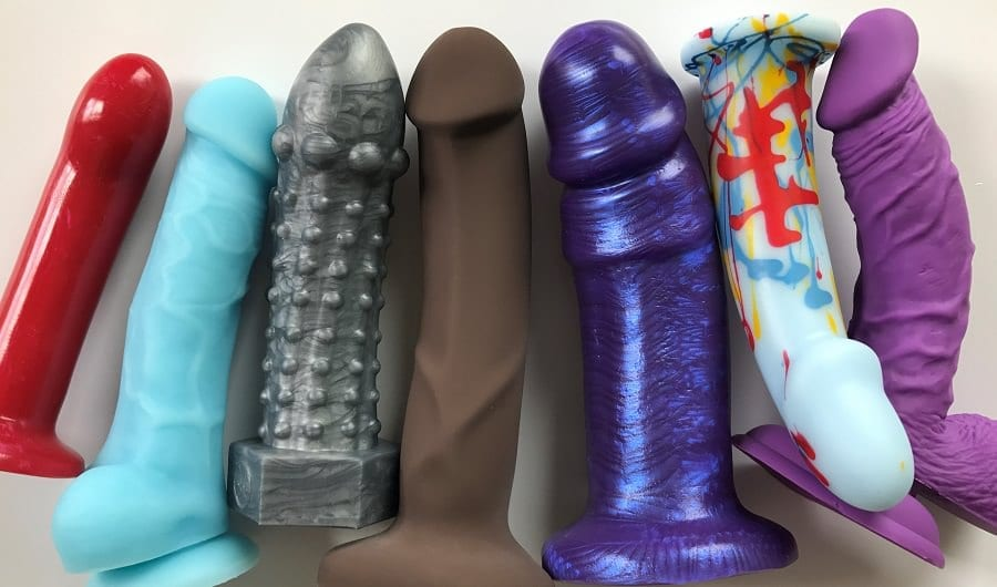 Medium firm silicone dildos