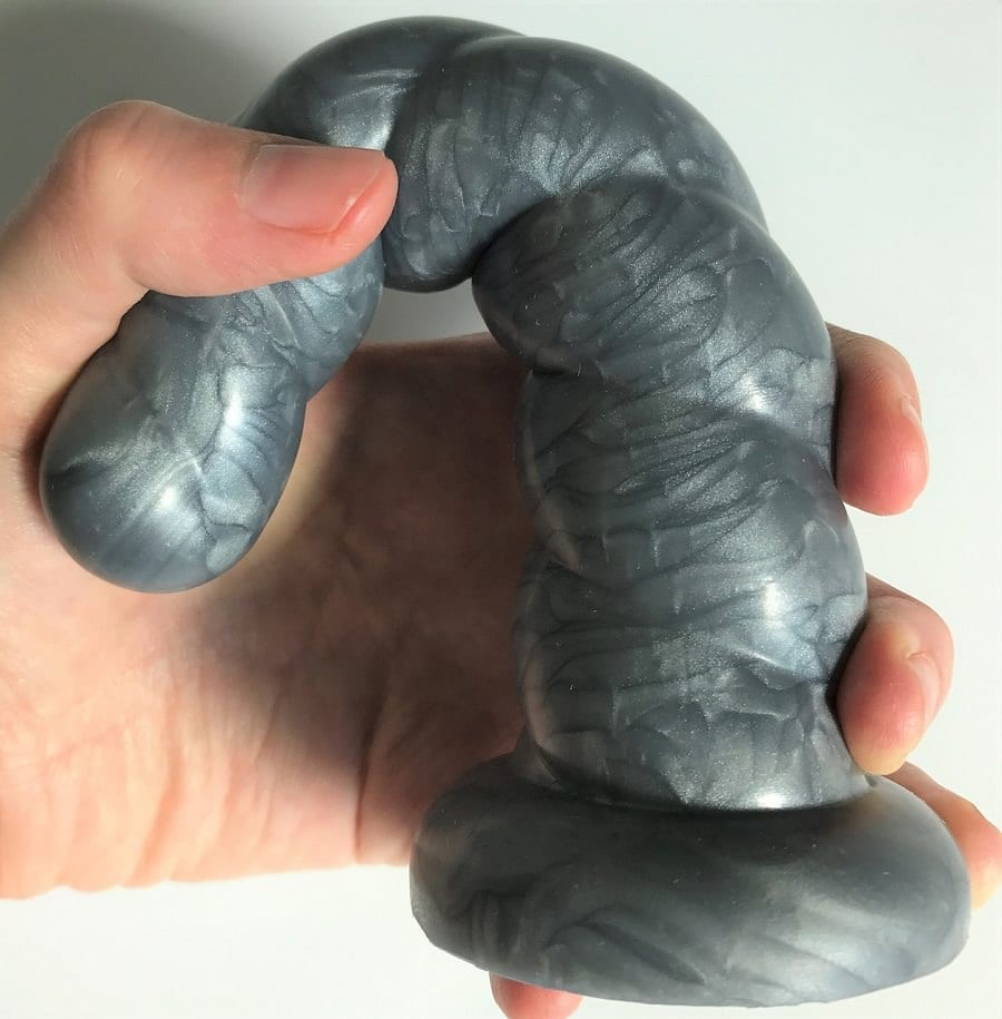 Split Peaches Unicorn Horn bent in half