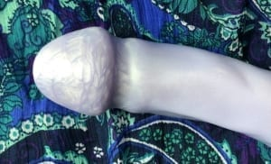 Uberrime Splendid dual density dildo small head closeup full (2)