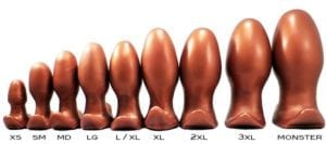 SquarePegToys Egg Plugs all sizes Bronze