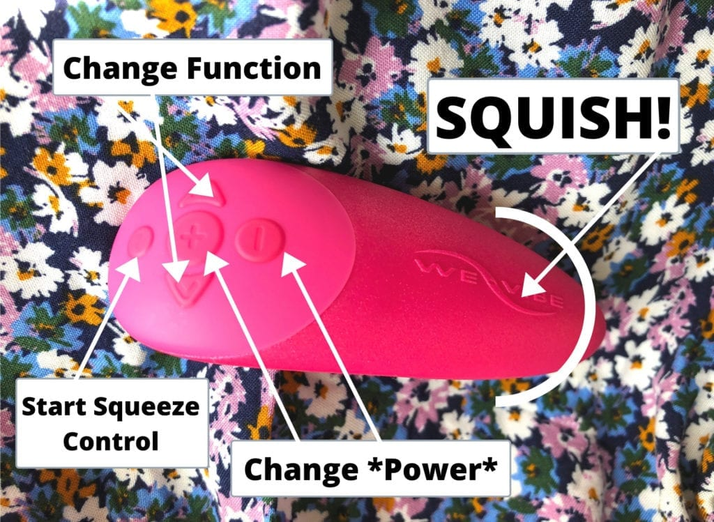 We-Vibe Chorus squeeze remote button diagram