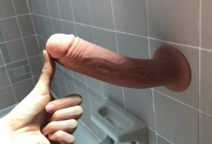 XR Thump It dildo shower suction cup
