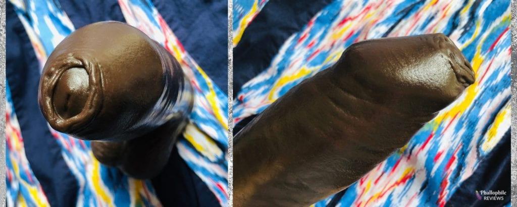 Hankey's Toys Chorizo n Eggs uncut realistic dildo foreskin shots
