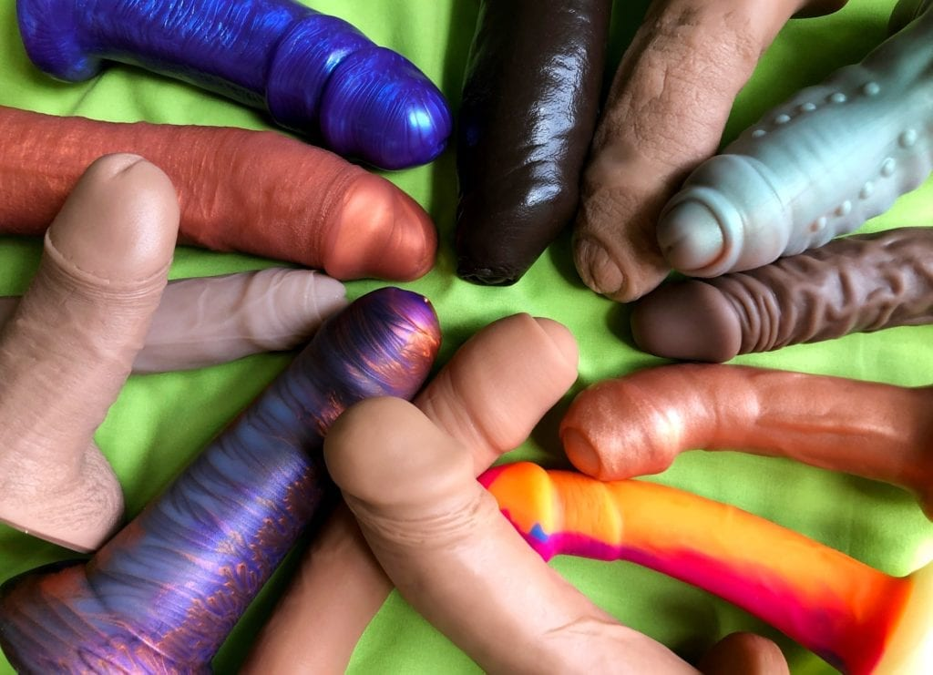 Uncircumcised dildos body safe silicone group shot