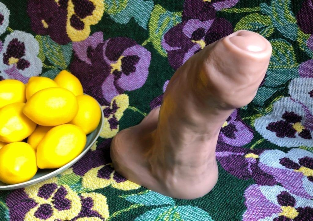 Mr. Hankey's Toys Goliath dildo head angle lemons