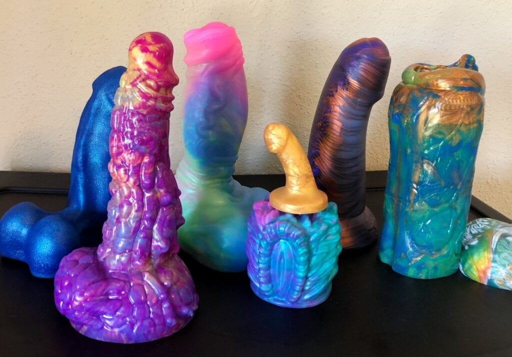 Love Smiths fantasy silicone dildos collection bright colors Pleasure Forge Wizard Buddy Batou