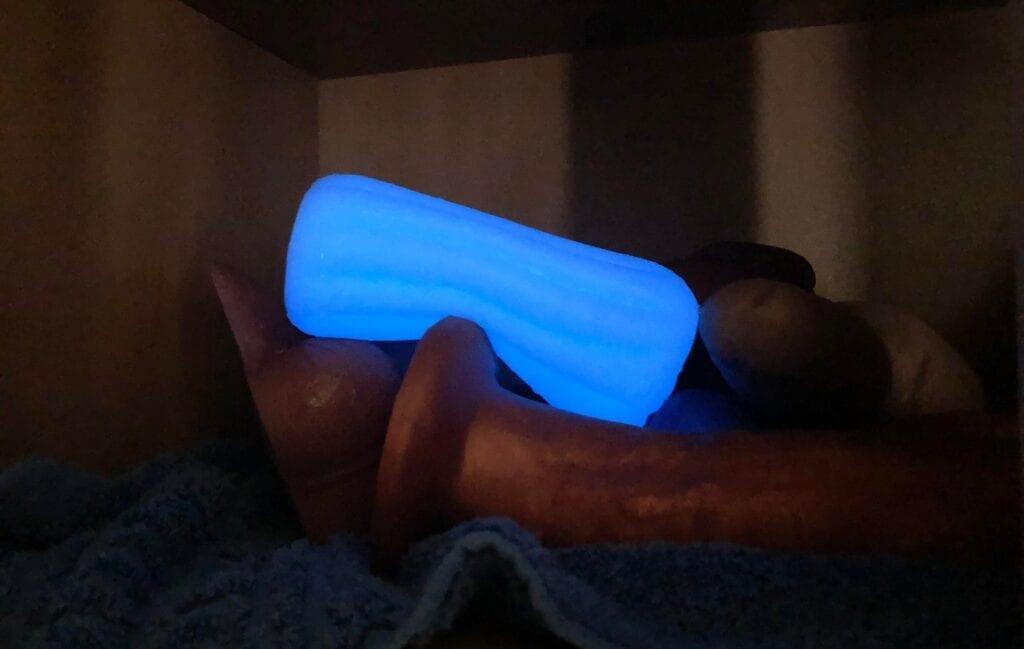 NS Firefly Glow in the Dark Silicone Masturbator glowing ed
