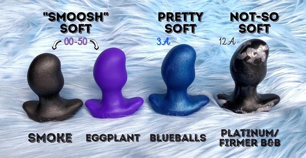 Oxballs Ergo platinum silicone butt plug firmness guide