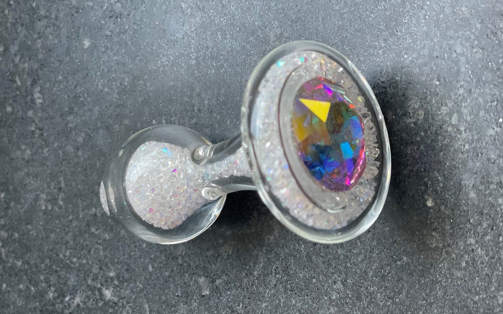 Crystal Delights Sparkle Plug glass jewel butt plug