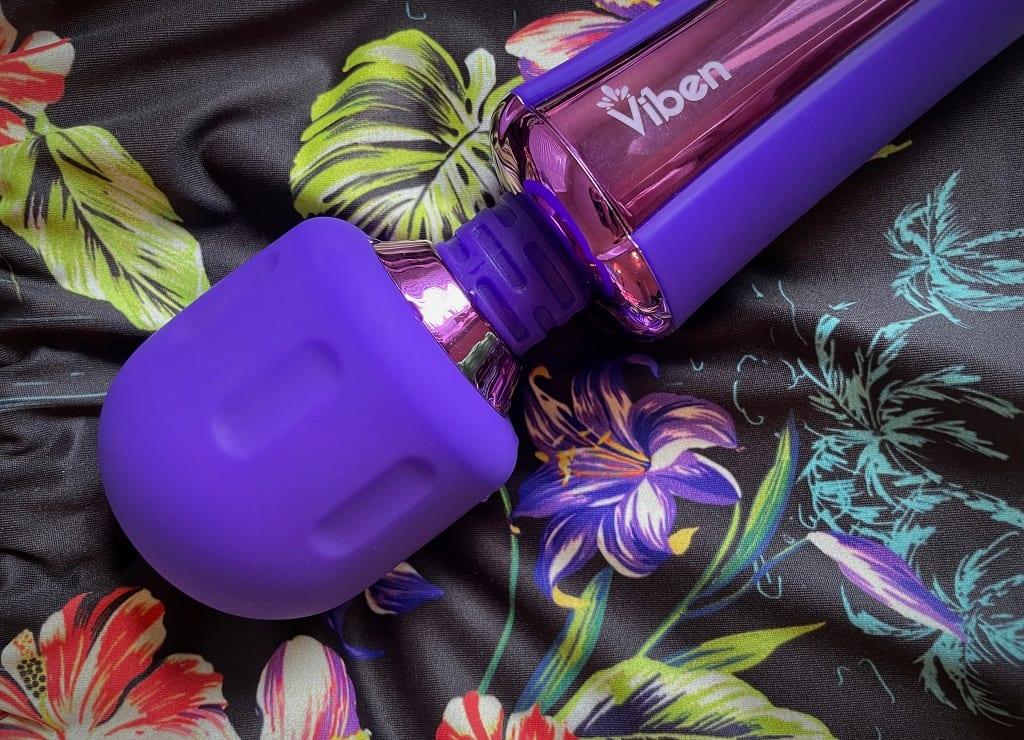 Viben Obession wand vibrator head royal purple